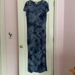 Michael Kors long tie dye pattern in blue